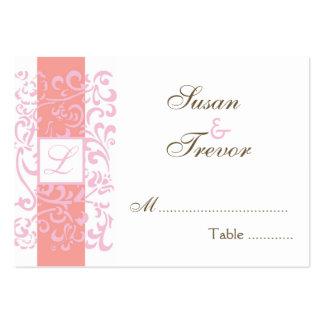 Tarjetas del asiento de la tabla del boda - vid de tarjetas de visita grandes