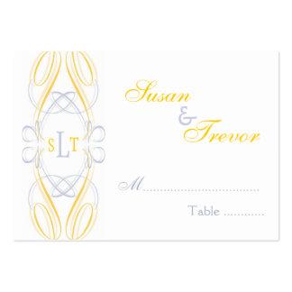 Tarjetas del asiento de la tabla - escritura del m tarjetas de visita grandes