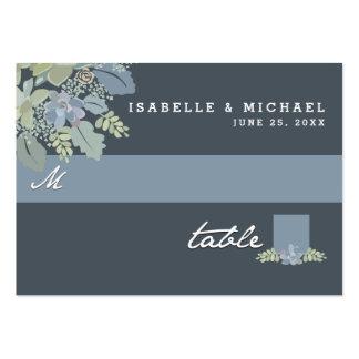 Tarjetas del asiento del boda del jardín del tarjetas de visita grandes
