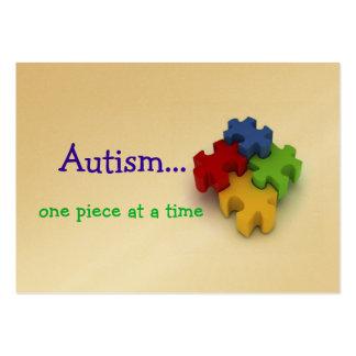 Tarjetas del autismo tarjetas de visita grandes
