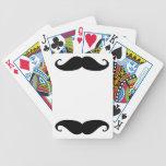 Tarjetas del bigote cartas de juego