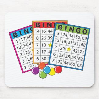 Tarjetas del bingo alfombrillas de ratones