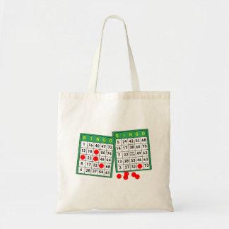 Tarjetas del bingo bolsas de mano
