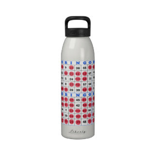 Tarjetas del bingo botella de agua