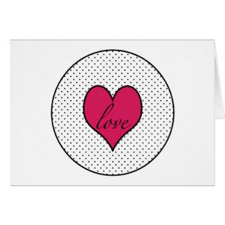 Tarjetas del botón del amor