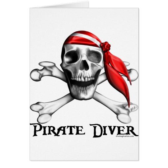 Tarjetas del buceador del pirata (verticales)