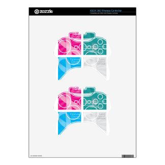 tarjetas del cáncer mando xbox 360 skin