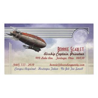 Tarjetas del capitán visita del dirigible plantillas de tarjetas de visita