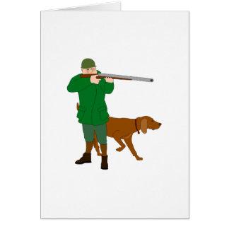 Tarjetas del cazador y de felicitación del perro