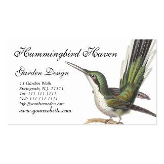Tarjetas del colibrí, diseñador de jardín, tienda  plantilla de tarjeta de visita