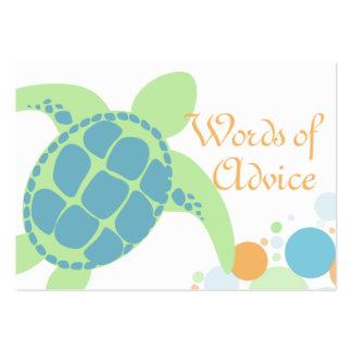 Tarjetas del consejo de la fiesta de bienvenida al tarjetas de visita grandes