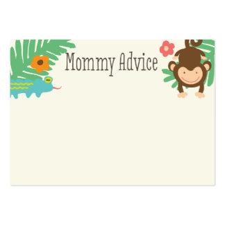 Tarjetas del consejo de la mamá de la fiesta de tarjetas de visita grandes