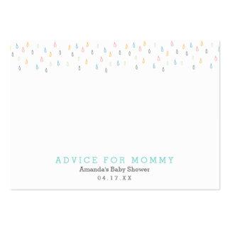 Tarjetas del consejo de la mamá de las nubes de tarjetas de visita grandes