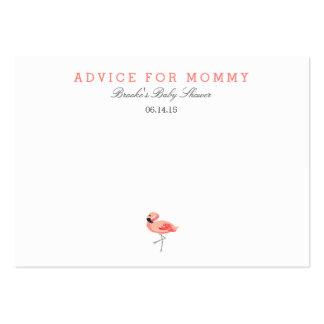 Tarjetas del consejo de la mamá del flamenco tarjetas de visita grandes