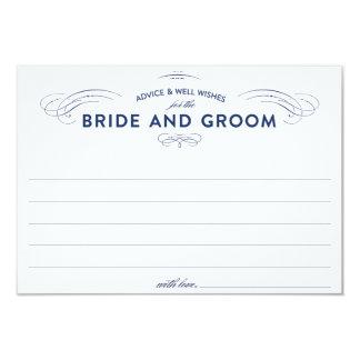 Tarjetas del consejo del boda comunicado personalizado