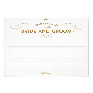 Tarjetas del consejo del boda anuncios personalizados