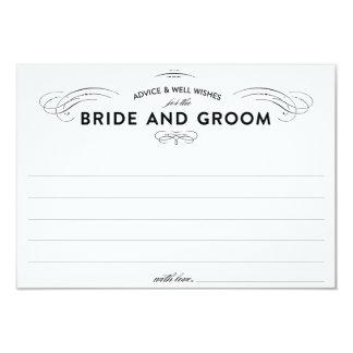 """Tarjetas del consejo del boda invitación 3.5"""" x 5"""""""