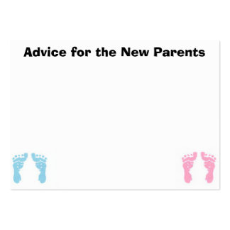 Tarjetas del consejo para los nuevos padres tarjetas de visita grandes