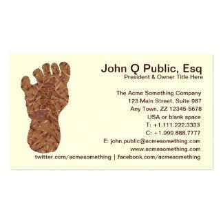 Tarjetas del contacto de Cryptid Bigfoot Sasquatch Tarjetas De Visita