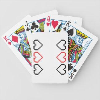Tarjetas del corazón baraja de cartas