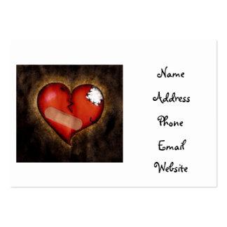 Tarjetas del Corazón-negocio del corazón quebrado Plantilla De Tarjeta De Visita