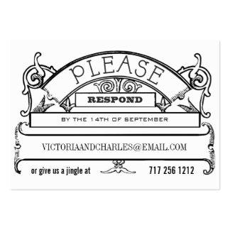 Tarjetas del correo electrónico o del teléfono de tarjetas de visita grandes