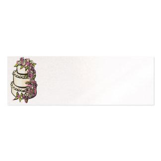 Tarjetas del cubierto de la recepción - perla tarjetas de visita mini