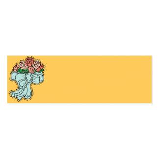 Tarjetas del cubierto de la recepción tarjetas de visita mini