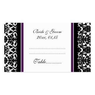 Tarjetas del cubierto de la tabla del boda del dam plantilla de tarjeta de negocio