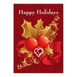 tarjetas del día de fiesta de la cardiología de la invitacion personalizada
