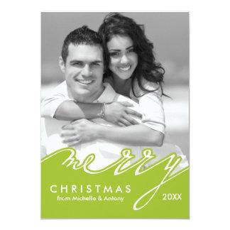 """Tarjetas del día de fiesta de las Felices Navidad Invitación 5"""" X 7"""""""