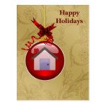 tarjetas del día de fiesta de las propiedades postales