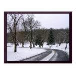 Tarjetas del día de invierno tarjetas postales
