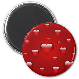 tarjetas del día de San Valentín, aniversario, amo Imán Redondo 5 Cm