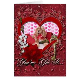 Tarjetas del día de San Valentín - cocker spaniel