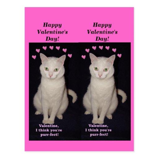 Tarjetas del día de San Valentín de la señal de Postal