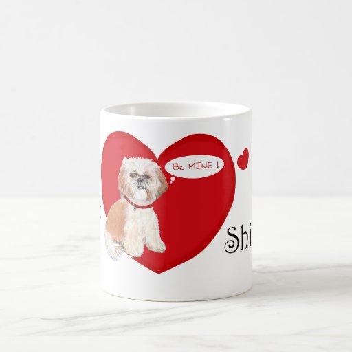 Tarjetas del día de San Valentín de Shih Tzu Taza De Café