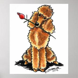 Tarjetas del día de San Valentín del amor del cani Póster