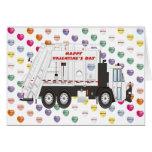 Tarjetas del día de San Valentín del camión de bas
