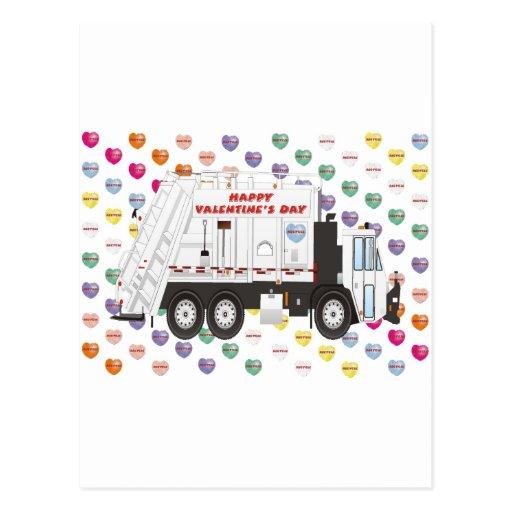 Tarjetas del día de San Valentín del camión de bas Tarjeta Postal