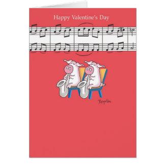 Tarjetas del día de San Valentín del DÚO del CERDO