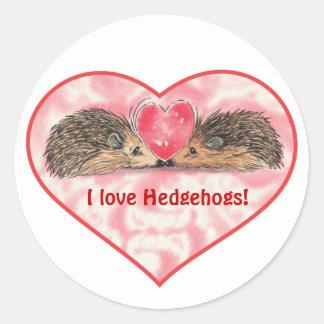 Tarjetas del día de San Valentín del erizo de Russ Etiqueta