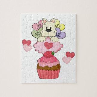 Tarjetas del día de San Valentín del perrito de la Rompecabezas Con Fotos