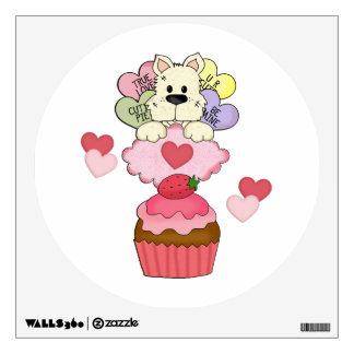 Tarjetas del día de San Valentín del perro de perr Vinilo Decorativo