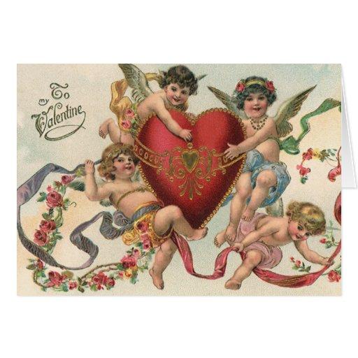 Tarjetas del día de San Valentín del Victorian del