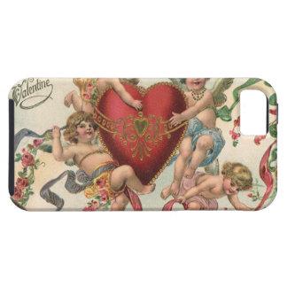 Tarjetas del día de San Valentín del vintage, cora iPhone 5 Case-Mate Fundas