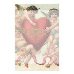 Tarjetas del día de San Valentín del vintage, cora Papelería De Diseño