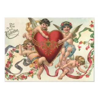 """Tarjetas del día de San Valentín del vintage, Invitación 5"""" X 7"""""""