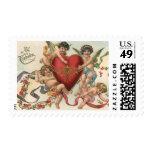 Tarjetas del día de San Valentín del vintage, Franqueo