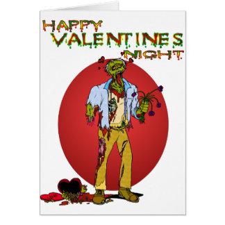 Tarjetas del día de San Valentín del zombi